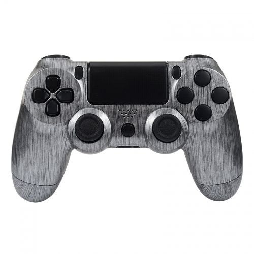 PS4 Controllergehäuse inkl. Mod Kit - Brushed Silver