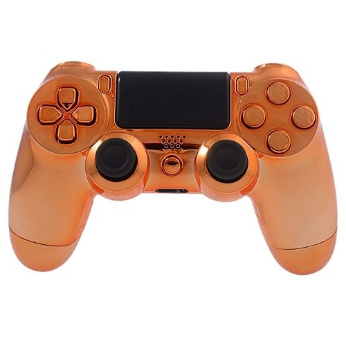 PS4 Controllergehäuse inkl. Mod Kit - Chrom Orange