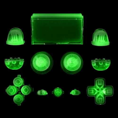 PS4 Controller Sticks und Tasten Set - Leuchtend im Dunkeln