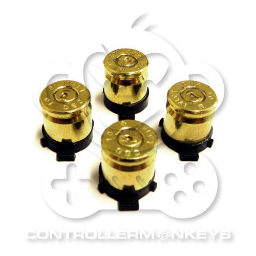 PS4/PS3 Bullet Action Buttons - Gold
