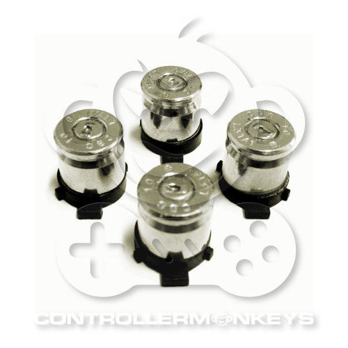 PS4/PS3 Bullet Action Buttons - Silber