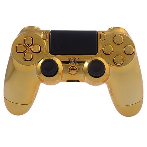 PS4 Controllergehäuse inkl. Mod Kit - Chrom Gold