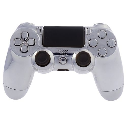 PS4 Controllergehäuse inkl. Mod Kit - Chrom Silber