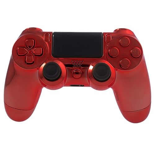 PS4 Controllergehäuse inkl. Mod Kit - Chrom Rot