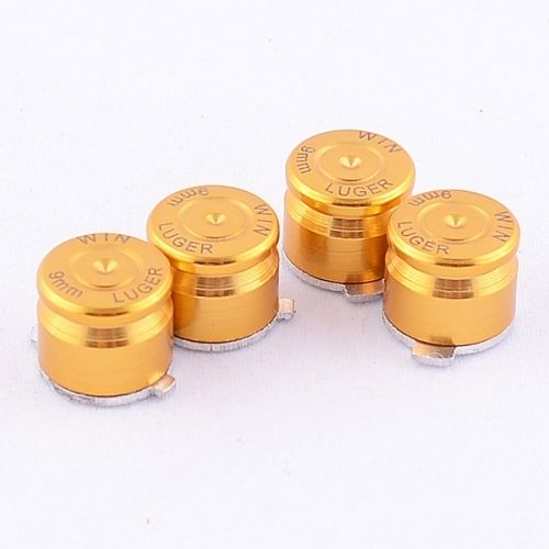 PS4 Aluminium Bullet Buttons - Gold