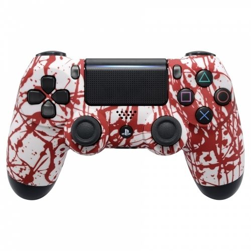 PS4 Oberschale für JDM-040 /-030 /-050 Controller - Blood Splatter